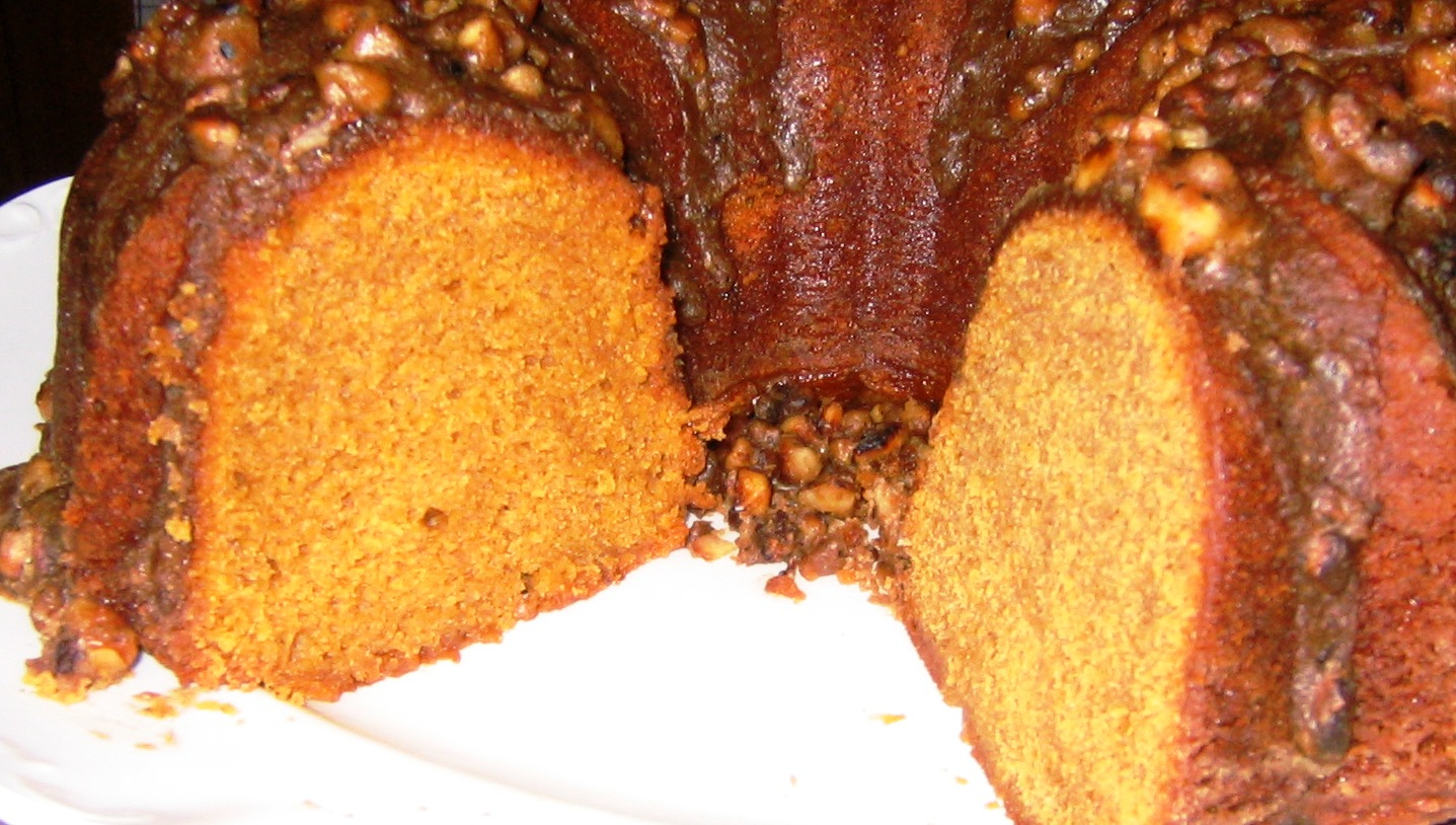 Pumpkin Bundt Cake With Cream Cheese Filling Recipe And Glaze